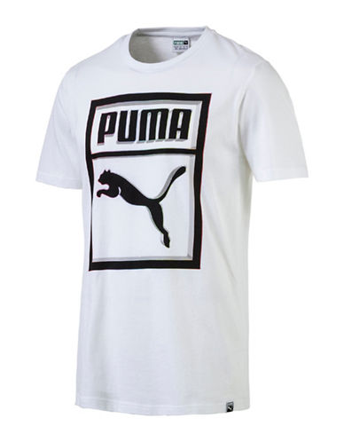 Puma Brand Plus T-Shirt-WHITE-Medium 89182090_WHITE_Medium
