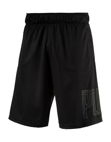 Puma Motion Flex Graphic Shorts-BLACK-Medium 89182063_BLACK_Medium