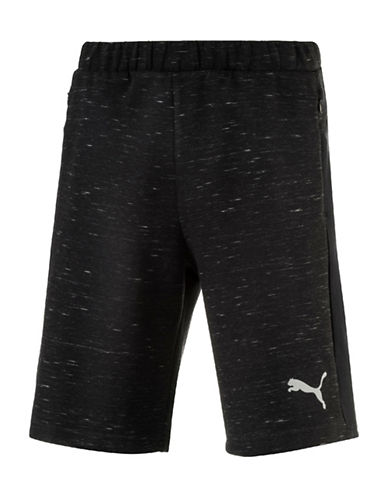 Puma Evostripe SpaceKnit Shorts-BLACK-XX-Large 89083761_BLACK_XX-Large