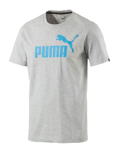 Puma Essential No.1 Tee-GREY-Small 89152744_GREY_Small