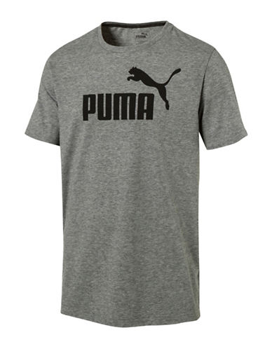 Puma Ess No.1 Heather Tee-GREY-Large
