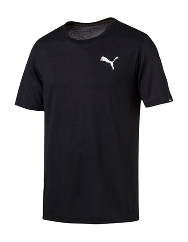 Puma Active Drycell and Dryvent Tee-BLACK-Medium