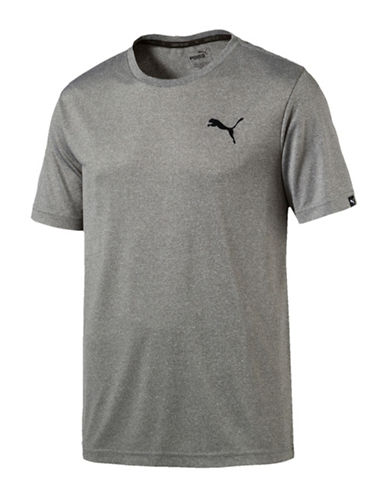 Puma Active Drycell and Dryvent Tee-GREY-Large