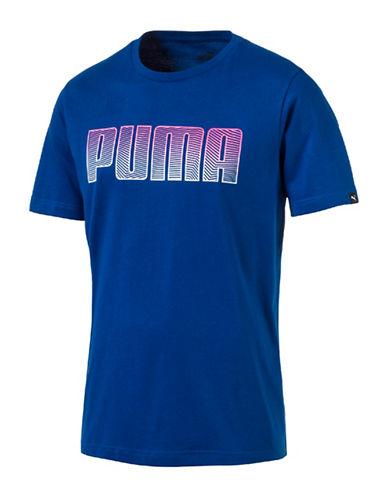 Puma Faded Logo T-Shirt-BLUE-Medium 89182137_BLUE_Medium