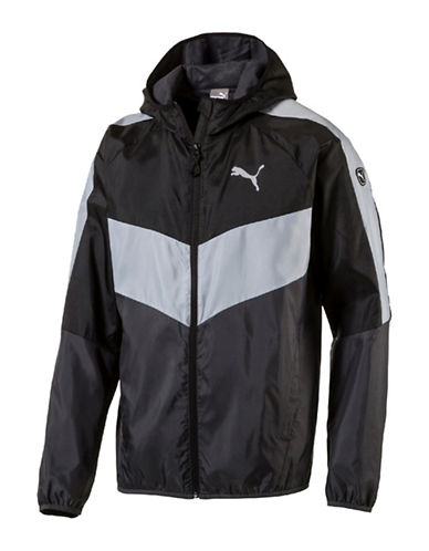 Puma Essential Colourblock Windbreaker-BLACK-X-Large 88978170_BLACK_X-Large