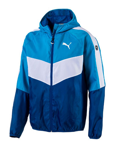 Puma Essential Colourblock Windbreaker-BLUE-Large 88978174_BLUE_Large