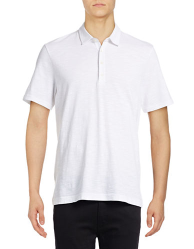 Michael Bastian Pima Cotton Slub Polo-WHITE-X-Large