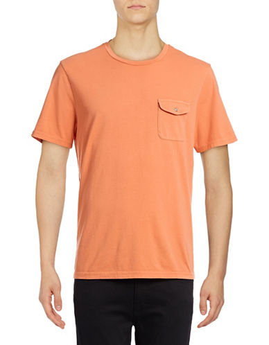 Michael Bastian Garment-Dyed Pocket Tee-PINK-Small