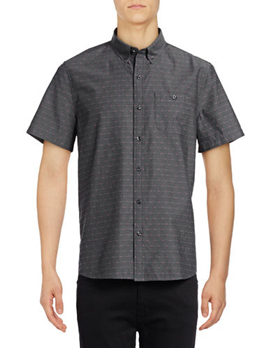 Michael Bastian Point Dobby Sport Shirt-GREY-Large