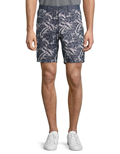 Michael Bastian Banana Leaf-Printed Shorts-GREEN-38