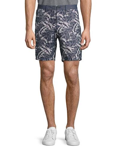 Michael Bastian Banana Leaf-Printed Shorts-GREEN-36