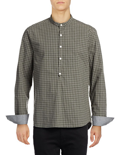 Michael Bastian Gingham Sport Shirt-BLUE-X-Large