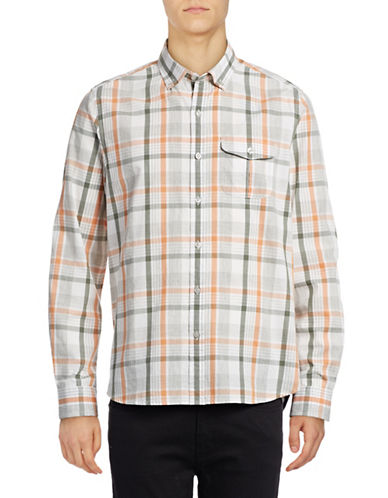 Michael Bastian Plaid Sport Shirt-PINK-Small