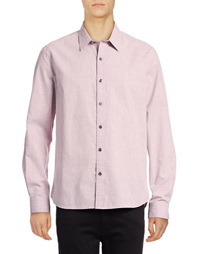 Michael Bastian Mini Gingham Sport Shirt-PINK-XX-Large
