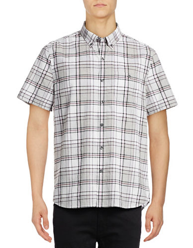 Michael Bastian Plaid Woven Sport Shirt-PINK-Small