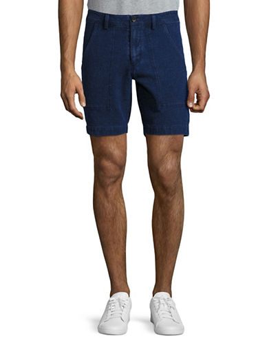 Michael Bastian Pique Shorts-BLUE-38