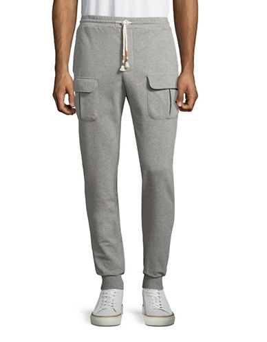 Michael Bastian French Terry Jogger Pants-GREY-Small 89023543_GREY_Small