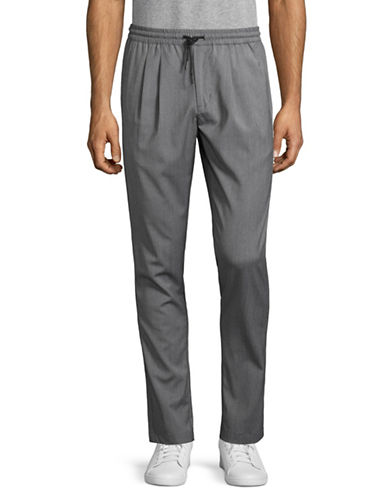 Michael Bastian Wool-Blend Jogger Pants-GREY-Large 89023565_GREY_Large