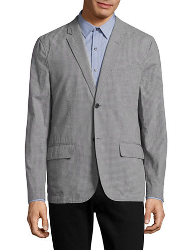 Michael Bastian Deconstructed Gingham Sports Jacket-GREY-Medium