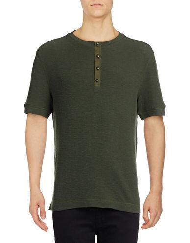 Michael Bastian Waffle Henley T-Shirt-BLUE-Small 89023603_BLUE_Small