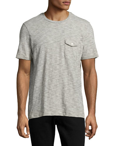 Michael Bastian Space Dye Pocket T-shirt-WHITE-X-Large