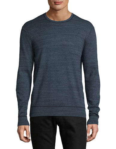 Michael Bastian Slub Crew Neck Sweater-NAVY-Medium