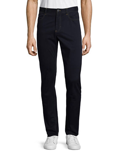 Michael Bastian Skinny Stretch Jeans-NAVY-36
