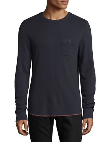 Michael Bastian Honeycomb Thermal Pullover-NAVY-X-Large