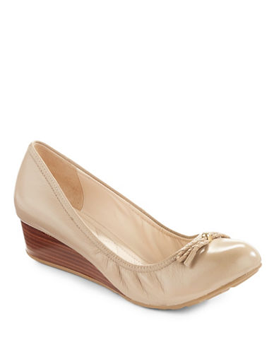 Cole Haan Tali Leather Ballet Wedges-MAPLE-5.5