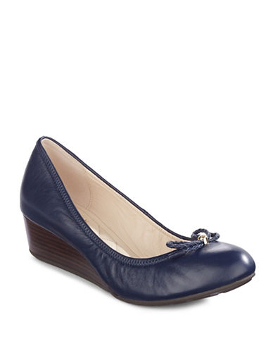 Cole Haan Tali Leather Wedge-BLUE-6.5