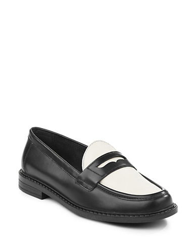Cole Haan Pinch Campus Penny Loafers-BLACK/IVORY-6