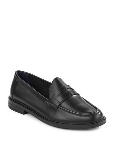 Cole Haan Pinch Leather Penny Loafers-BLACK-7.5