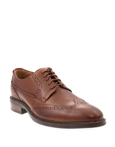 Cole Haan Oxford Dress Shoes-BROWN-10