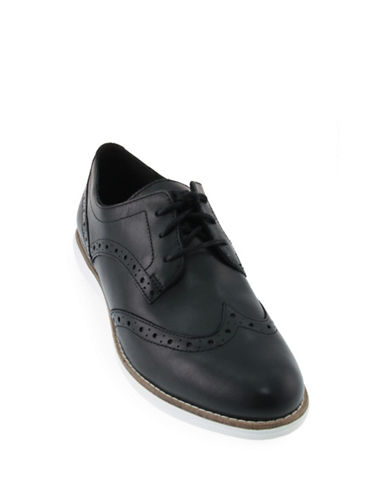 Cole Haan Original Grand Wingtip Leather Oxfords-BLACK WHITE-5.5