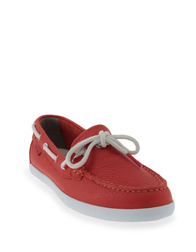 Cole Haan Weekend Leather Boat Shoes-RED-8.5