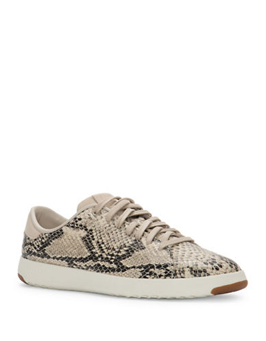Cole Haan GrandPro Snake Embossed Leather Tennis Sneakers-SNAKE PRINT-8.5