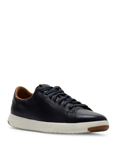 Cole Haan Grandpro Leather Tennis Sneakers-BLUE-7.5