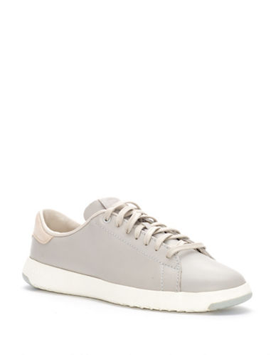 Cole Haan Leather Tennis Shoes-SILVER-6