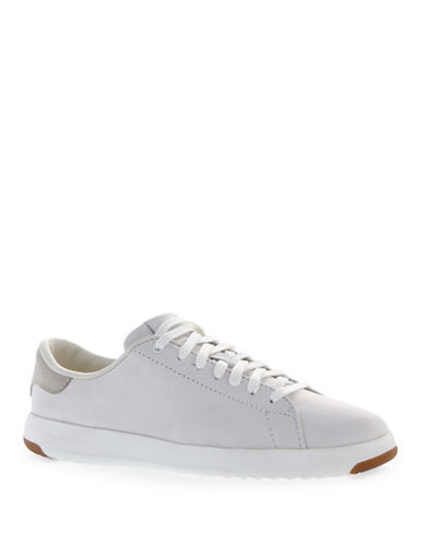 Cole Haan Leather Tennis Shoes-WHITE-5.5