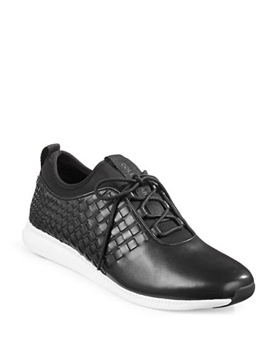 Cole Haan Studio Grand Woven Trainers-BLACK-9.5