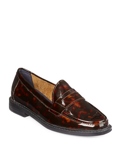 Cole Haan Pinch Campus Patent Leather Penny Loafers-BROWN-6