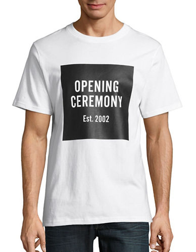 Opening Ceremony Crew Neck Logo T-Shirt-WHITE-Medium 88070293_WHITE_Medium