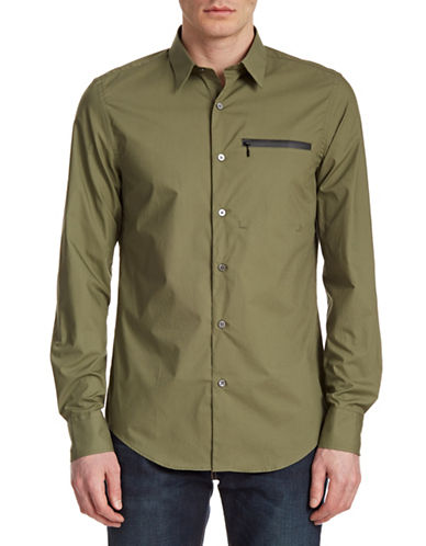 Opening Ceremony Zipped Pocket Sport Shirt-ARMY-Small