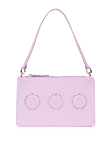 Opening Ceremony Leather Nev Coins Zip Clutch-LAVENDER-One Size