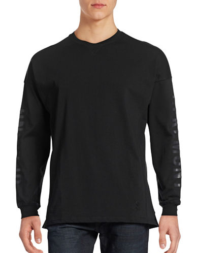 Opening Ceremony Long Sleeve Logo T-Shirt-BLACK-Small 88532121_BLACK_Small
