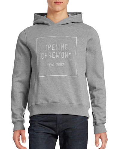 Opening Ceremony Embroidered Box Logo Hoodie-GREY-Large 88532134_GREY_Large