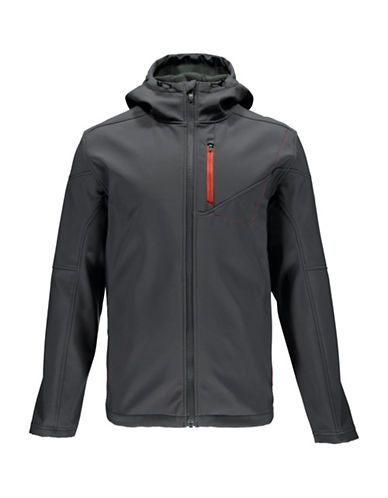 Spyder Patsch Hoodie Softshell Jacket-GREY-X-Large 88811918_GREY_X-Large
