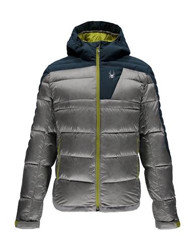 Spyder Bernese Down Jacket-LIGHT GREY-XX-Large