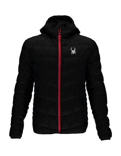 Spyder Geared Hoody Down Jacket-BLACK-Large 88811997_BLACK_Large