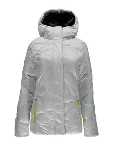 Spyder Geared Hoody Quilted Jacket-WHITE-Medium 88799736_WHITE_Medium